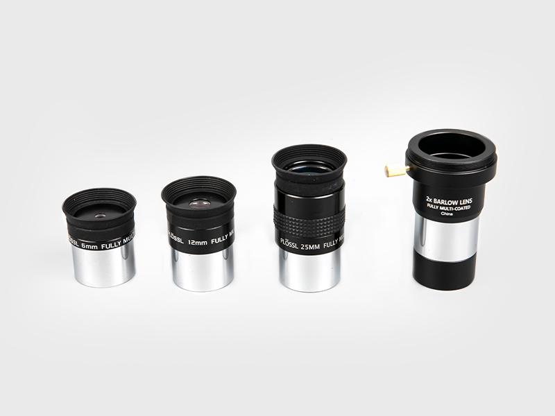 Super Plossl6mm-12mm-25mm + 2X Barlow Okular