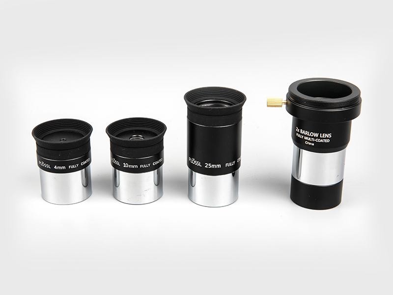 Plossl4mm-10mm-25mm + 2X Barlow Okular
