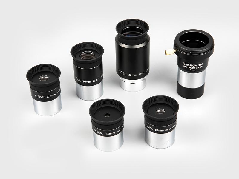 Plossl6.3mm-10mm-12.5mm-20mm-32mm + 2X Barlow Okular